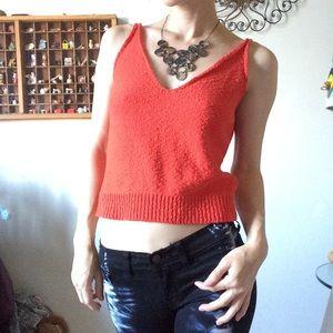 Zara Tops - New Zara Knit Orange-ish Tank Top Cropped